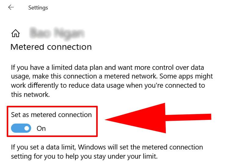 Tắt update win 10 bằng thiết lập wifi