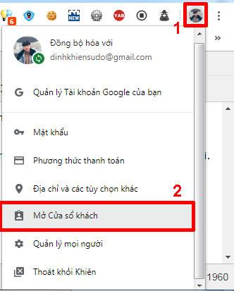 Đăng ký tài khoản gmail không cần số điện thoại bằng cách mở cửa sổ khách