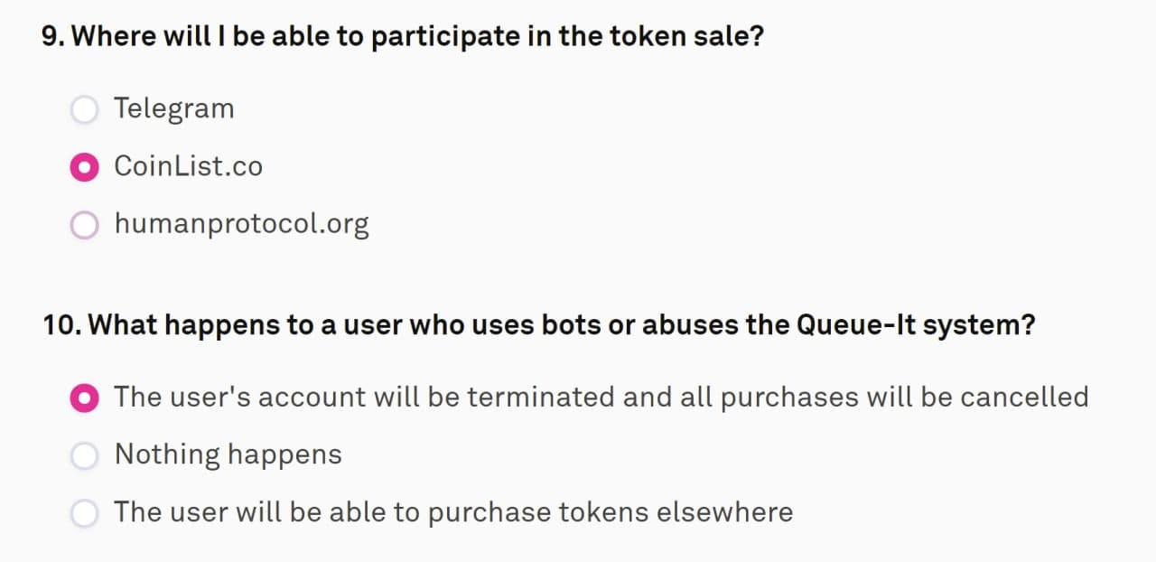 Hướng dẫn đăng ký mua HUMAN trên COINLIST