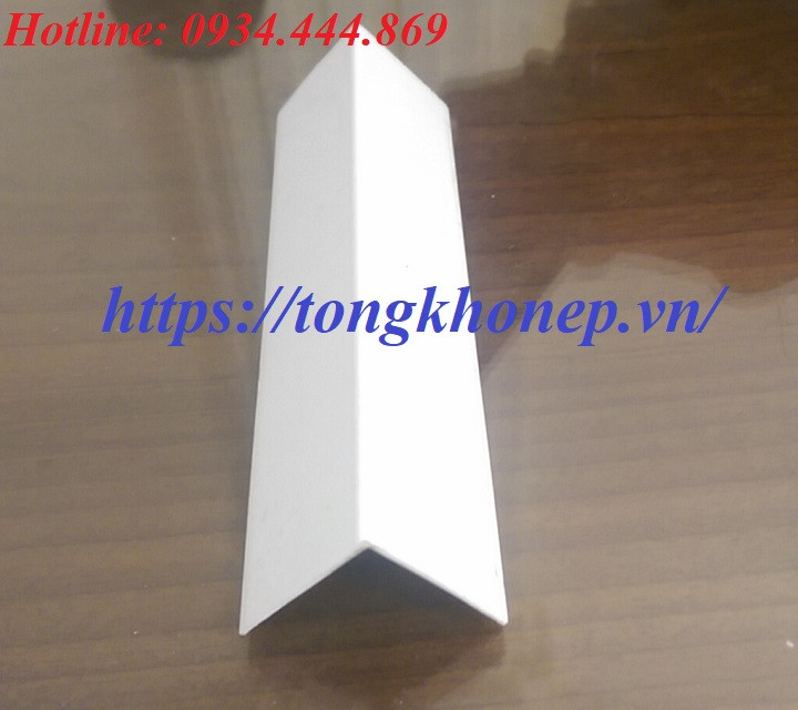 Nẹp nhựa chữ V chống va đập bảo vệ góc tường