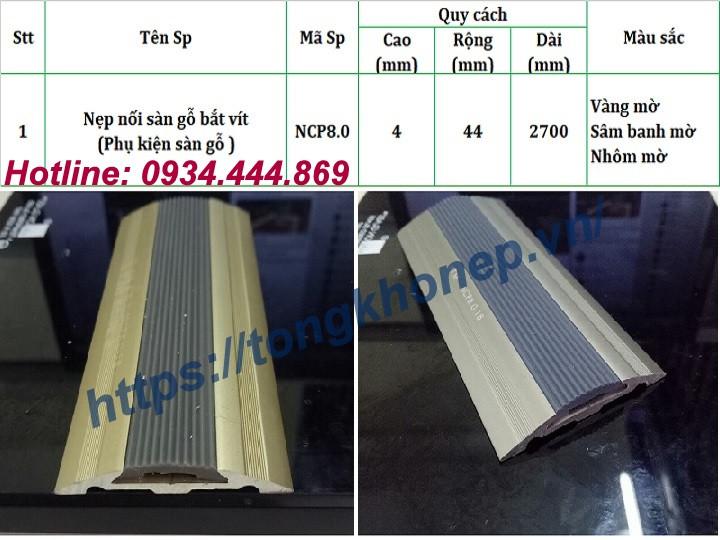 Nẹp nối sàn gỗ bằng hợp kim nhôm cao cấp tại Hà Nội