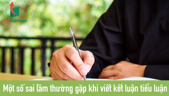 Một số sai lầm thường gặp khi viết kết luận tiểu luận