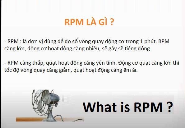 Rpm là gì? Rpm là đơn vị gì?