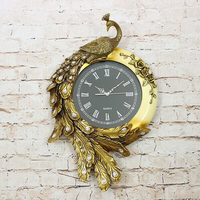 Giá Đồng hồ treo tường hình con công HTDH-09 - Đồng hồ treo tường chim côngHTDH-09