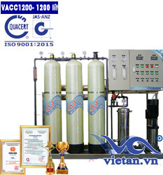 Dây chuyền lọc nước 1200 lít van cơ