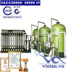 Dây chuyền lọc nước 20000 lít van cơ