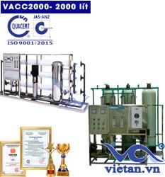 Dây chuyền lọc nước 2000l van cơ