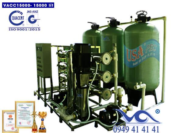 Dây chuyền lọc nước 15000 lít/h van cơ