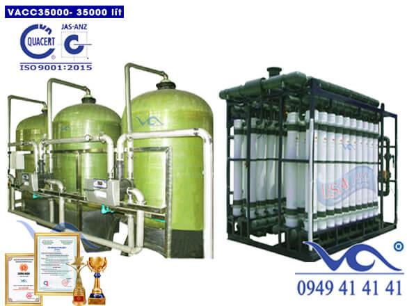 Dây chuyền lọc nước 35000 lít/h van cơ