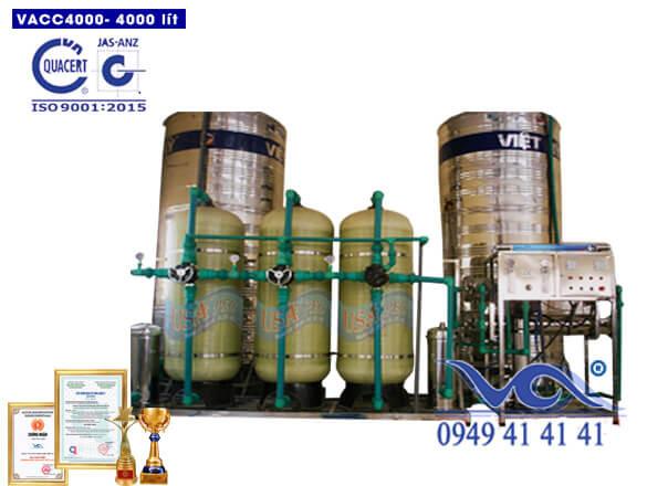 Dây chuyền lọc nước 4000l/h van cơ