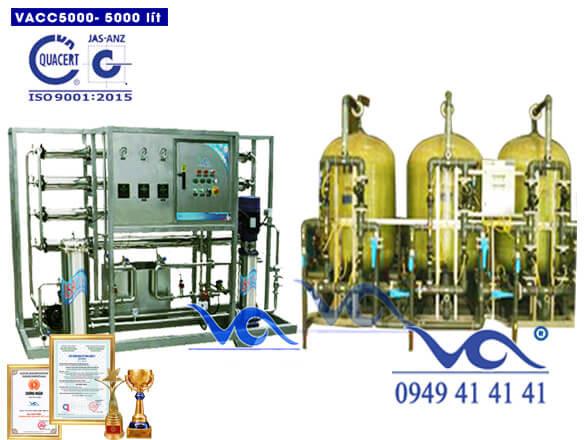 Dây chuyền lọc nước 5000l/h van cơ