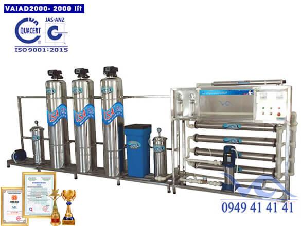 Dây chuyền lọc nước điện giải 2000 lít/h autovan