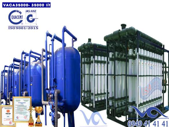 Dây chuyền lọc nước tinh khiết 35000 lít composite autovan