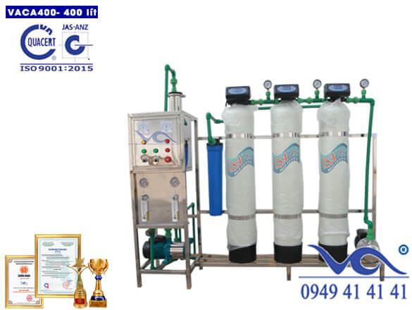 Dây chuyền lọc nước tinh khiết 400l/h composite autoval