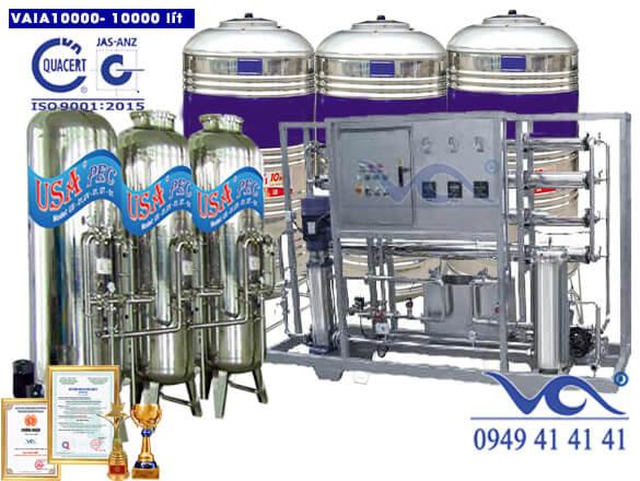 Hệ thống lọc nước 10000 lít inox autovan