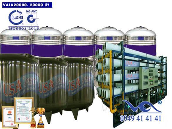 Hệ thống lọc nước 20000 lít inox autovan