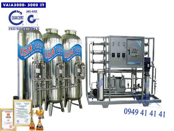 Hệ thống lọc nước 3000 lít inox autovan