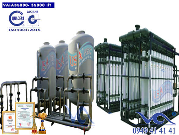 Hệ thống lọc nước 35000 lít inox autovan