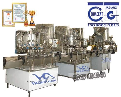 máy chiết rót chai tự động 3 trong 1 VACGF 2000