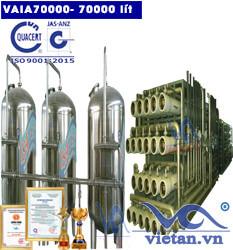 Hệ thống lọc nước 70000 lít