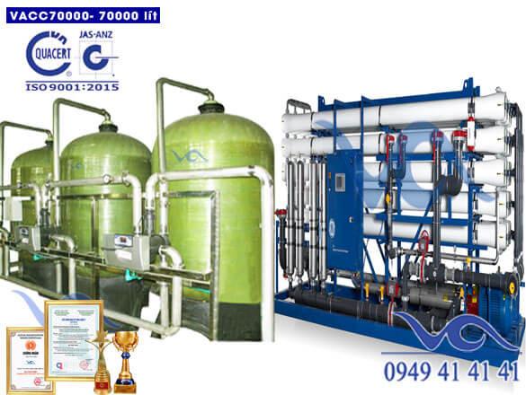 Dây chuyền lọc nước 70000 lít/h van cơ