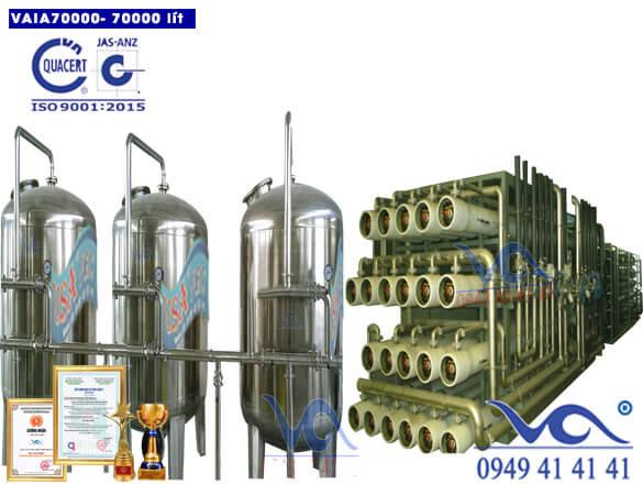 Hệ thống lọc nước tinh khiết 70000 lít/h