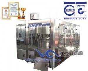 máy chiết rót chai tự động 12 trong 1 vacgf 20000