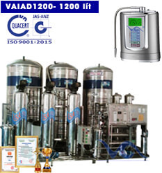 Dây chuyền lọc nước điện giải ion kiềm 1200 lít