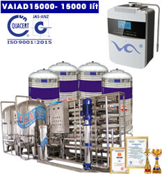 Dây chuyền lọc nước điện giải ion kiềm 15000 lít
