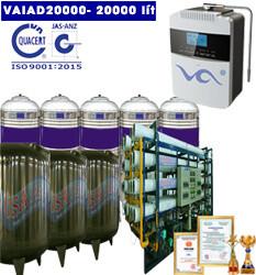 Dây chuyền lọc nước điện giải ion kiềm 20000 lít