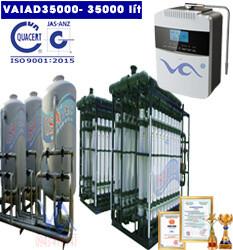 Dây chuyền lọc nước điện giải ion kiềm 35000 lít