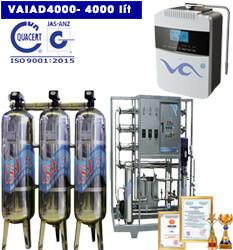 Dây chuyền lọc nước điện giải ion kiềm 4000 lít