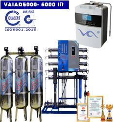 Dây chuyền lọc nước điện giải ion kiềm 5000 lít