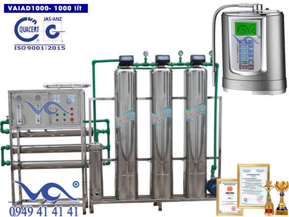 Dây chuyền lọc nước điện giải ion kiềm 1000 lít/h VAIAD1000