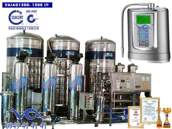 Dây chuyền lọc nước điện giải ion kiềm 1200 lít/h VAIAD1200
