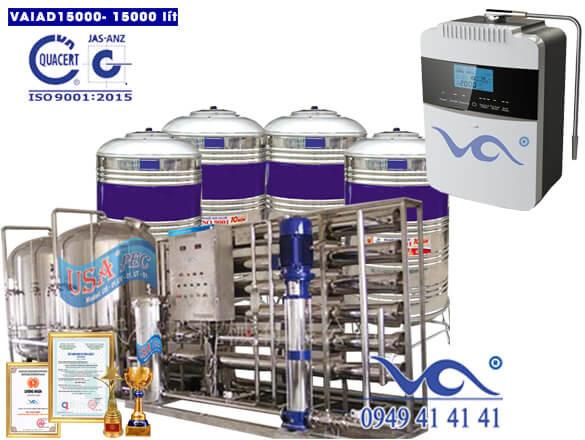 Dây chuyền lọc nước điện giải ion kiềm 15000 lít/h VAIAD15000