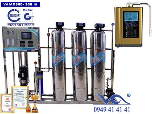 Dây chuyền lọc nước điện giải ion kiềm 300 lít/h VAIAD300