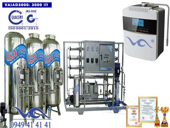 Dây chuyền lọc nước điện giải ion kiềm 3000 lít/h VAIAD3000