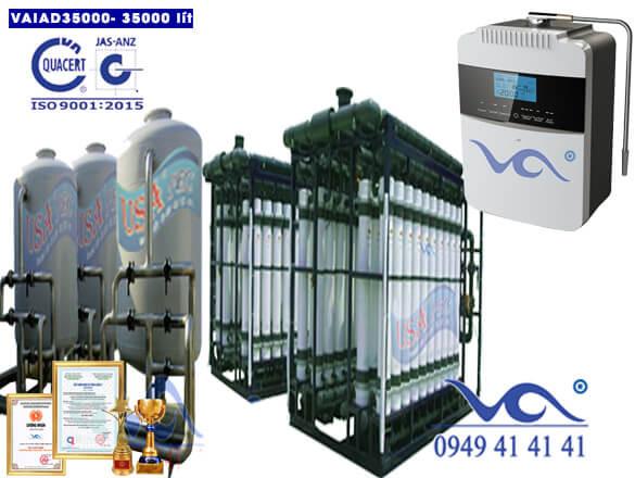 Dây chuyền lọc nước điện giải ion kiềm 35000 lít/h VAIAD35000