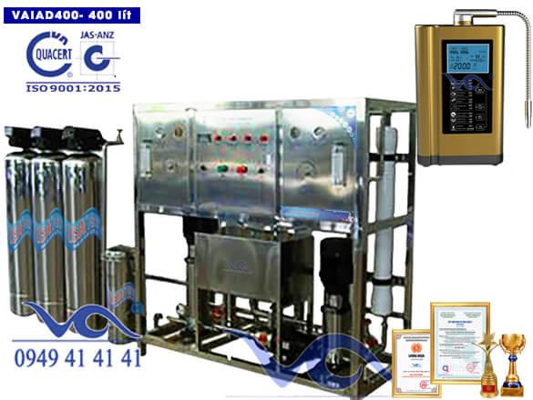 Dây chuyền lọc nước điện giải ion kiềm 400 lít/h VAIAD400