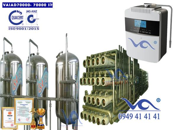 Dây chuyền lọc nước điện giải ion kiềm 70000 lít/h VAIAD70000