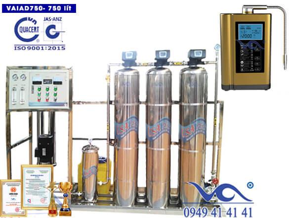 Dây chuyền lọc nước điện giải ion kiềm 750 lít/h VAIAD750