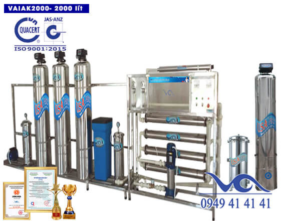 Hệ thống lọc nước tạo khoáng 2000 lít/h VAIAK2000