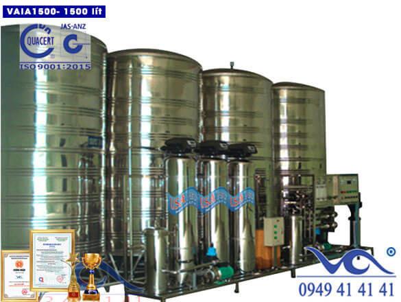 Dây chuyền lọc nước 1500 lít