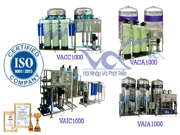 Giá dây chuyền lọc nước đóng chai VA