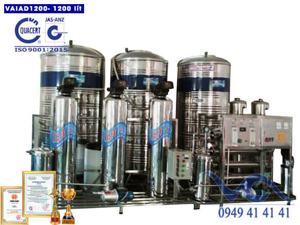 Hệ thống lọc nước điện giải vaiad 1200 lít