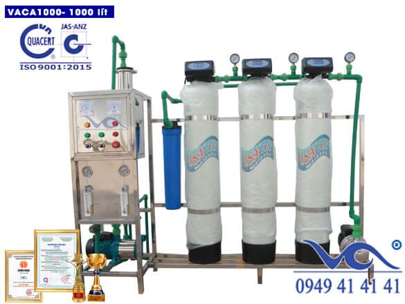 Viet An exports 1,000 liter water filtration line to customers in Dak Lak