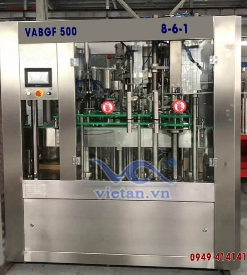 Máy chiết chai bia VABGF500- 3 in 1