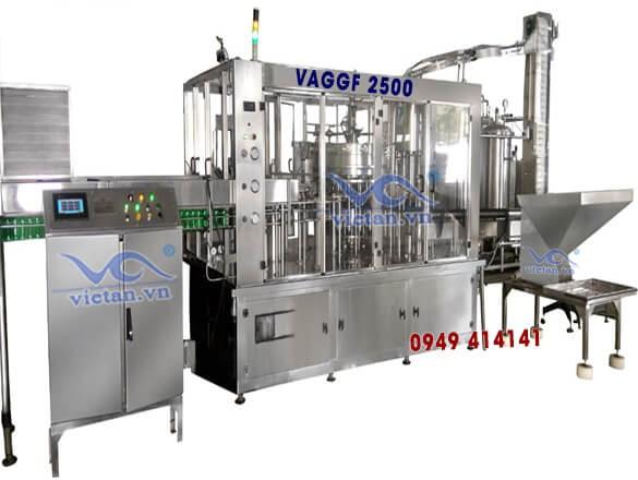 Máy chiết chai thủy tinh 4 trong 1 VAGGF2500