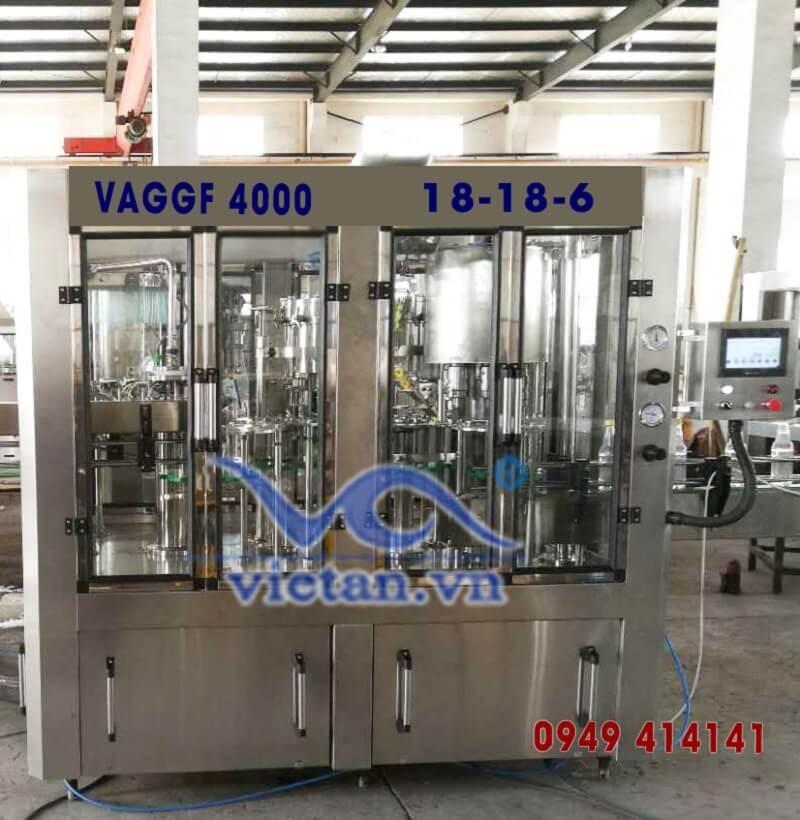 Máy chiết chai thủy tinh VAGGF4000-3 in 1